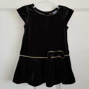 Like New/EUC babyGap Black velvet party dress